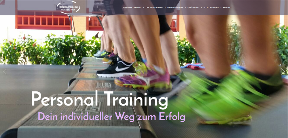 Website Heldentraining.com